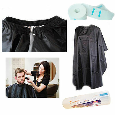 Barbers Hair Cutting Cape Water Resistant LONG Gowns Apron Salon Stretchy Clip