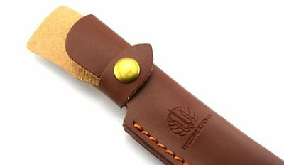Top Quality Straight Leather Belt Sheath Scabbard Case For Fixed Knife blade