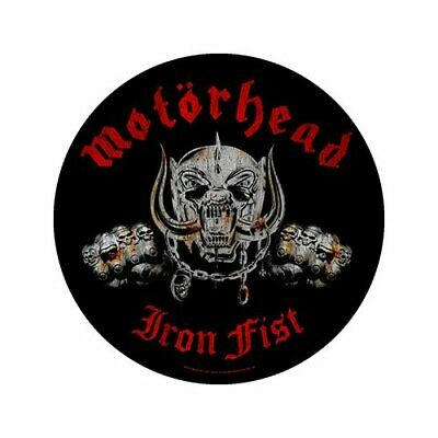 Motorhead Iron Fist Round Negro Sew On Back Patch Badge Album Cover Oficial