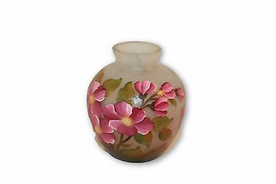 Vase Nancy Daum Vintage French Glass Cameo Art Signed France Antique 30's