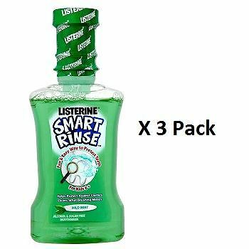Listerine Smart Rinse For Kids 6+ Mild Mint 250ml x 3 Pack