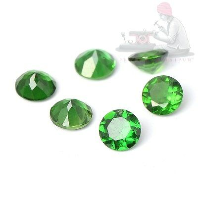 1mm to 6mm Calibrated Natural Chrome Diopside Faceted Round Loose Gemstone UK