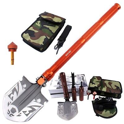 New Camping Shovel Multiuse Outdoor Military Hiking Survival Tools Folding Spade