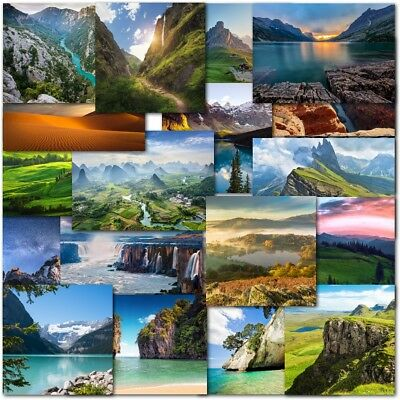 Pack of 20 Mixed Landscapes Birthday & Blank Greeting Cards Male Mens
