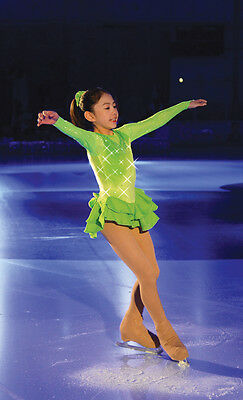 Jerry's 172 Lime all the time figure skating dress - FREE P&P- NEW LOWER PRICE