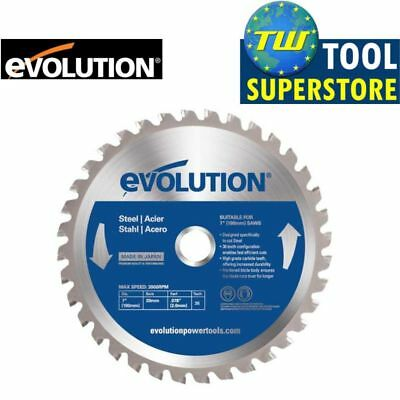 "Evolution 180mm TCT Steel Cutting Blade 36T 7"" Fits EVO180 Circular Saw"