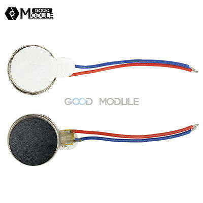 Coin Flat Vibrating Micro Motor DC 3V 8mm For Pager Cell Phone Mobile