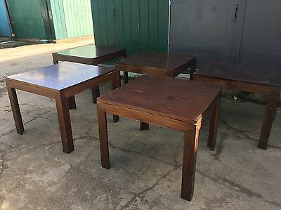 Set Of 5 Solid Wood Cafe / Pub / Restaurant Tables