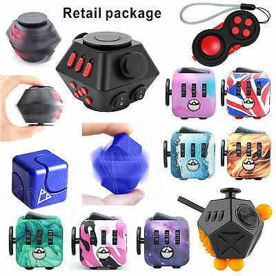 Fiddle Fidget Cube Children Kids Toy Adults Stress Relief ADHD + Free Bag & P&P