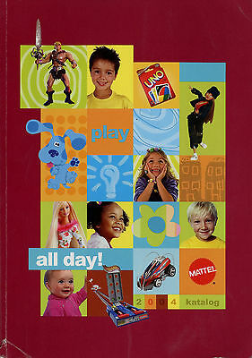 Katalog Mattel 2004 244 S. Barbie Ello Geo Trax Polly My Scene Little People u.a