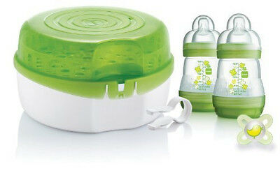 MAM Microwave Steam & Cold Water Steriliser Baby Bottle Cleaning