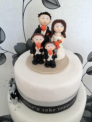 Personalised Wedding Cake Topper Bride and Groom. Unique, Handmade