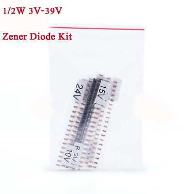 280Pcs 14 values 1/2W 0.5W 3V-39V LL34 1206 SMD ZMM Zener Diode Assortment Kit