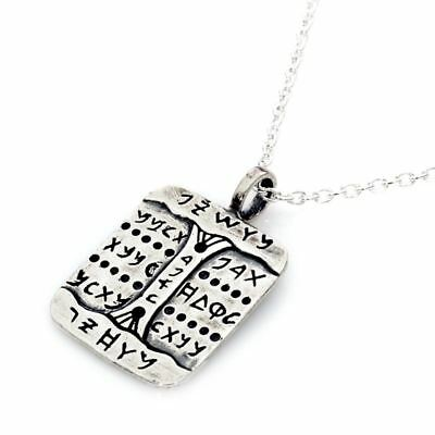 Sterling Silver Mystical Kabbalah Against Addictions Amulet Charm DR-1031