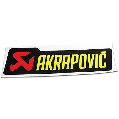 Akrapovic Exhaust Silencer Can Decal Badge Sticker 180mm