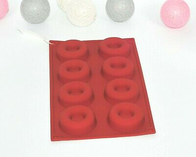 8 Cavity Silicone Mini Donut Pan Muffin Cups Cake Baking Ring Biscuit Mold
