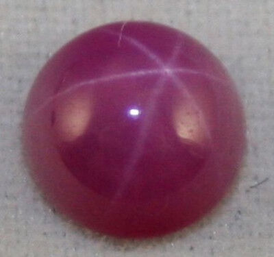 Lab Grown Star Ruby 5Mm Round Gemstone  0.6Ct Cabochon Loose Gem Ru6F