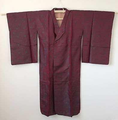 Authentic Japanese wine red amagoto rain coat, imported from Japan (J1119)