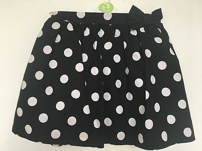 BNWOT Next Black & White Spotty Skirt. Girls. Age 12 months to 6 Years