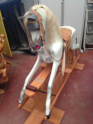 Stunning Large Haddon Antique Rocking Horse 50""