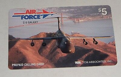 TCM Associates Air Force C-5 Galaxy Airplane Prepaid $5 Phone Card