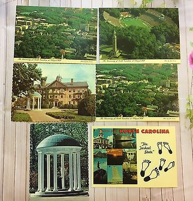 Lot Of Six Vintage North Carolina Post Cards Collectible New Old Stock Gift