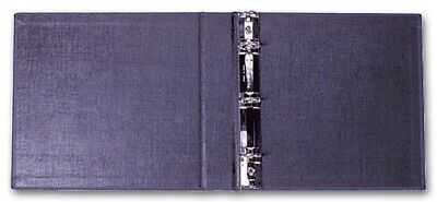 3 Ring 3 on- a-Page Business Compact Check Book Binder Vinyl BLACK