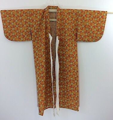 Authentic Japanese wool kimono & haori jacket set for girls, good cond. (K1124)