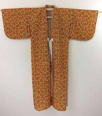 Authentic Japanese wool kimono for girls, imported from Japan, good cond.(K1125)
