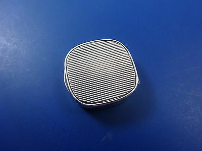 Vintage Sterling Silver 925 Stamp, Pill or Trinket Box in Retro Design  (#1231)