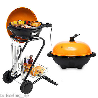 Indoor Outdoor Portable 1600W Electric BBQ Grill Smokeless Non-stick Barbecue UK