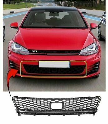 Vw Golf Mk7 2013-2017 Gti Gtd Front Centre Bumper Grille W/ Adaptive Cruise Hole