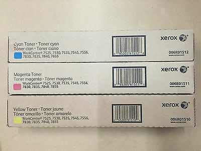 Genuine Xerox 006R01510 R01511 R01512 CMY Toners for WC 7525 7530 7535 7545 7556
