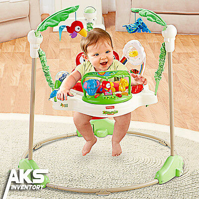 Fisher Price Rainforest Jumperoo Baby Jumper Walker Bouncer Activity Seat New