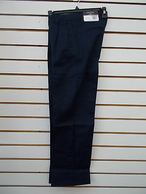 Boys Nautica $32 Uniform/Casual Navy Pleated Front Pants Size 12 - 20