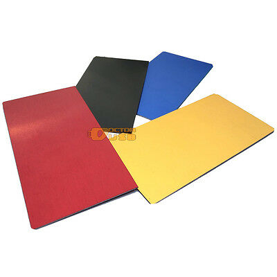 Anodized Aluminium Metal Plate 10X5CM Nameplate Plaque Sheet +Seperated Adhesive