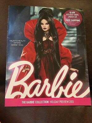 Haunted Beauty Vampire Cover Barbie Collector Catalog Holiday Preview 2013 Mag