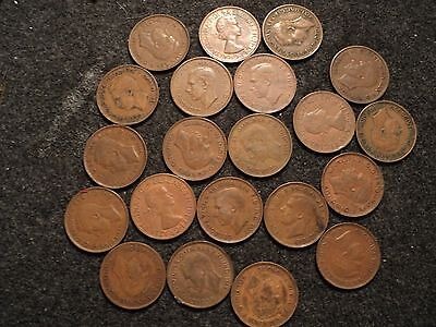 australia one penny kangaroo coin 21 lot assorted dates