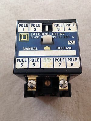 New Square D 8501 Type Ll Latching Relay Ser A 8Pole 120/110V
