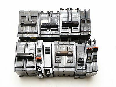 ASSORTED LOT OF 11 CIRCUT BREAKERS UL 2-Pole 70 30 40  Amp Circuit Breaker