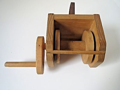 Large Vintage Wooden Kite String - Thread Bobbin -Handle - Reel - Spool