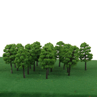 20pcs Green Tree Model Plastic 7cm Cement TreesTrain RR Park Landscape 1:150