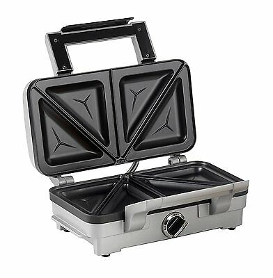 NEW Cuisinart 2-in-1 Sandwich and Waffle Maker, 1000 W - Silver