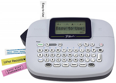 New Brother P-touch Handy Label Maker Labeling System Black on White Tape Inc.