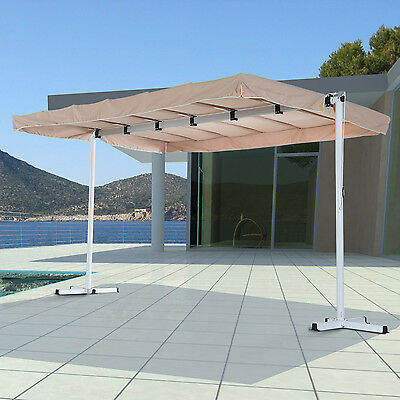 Outsunny 3.75 x 2.5m Outdoor Free Standing Garden Awning Shelter Party Canopy