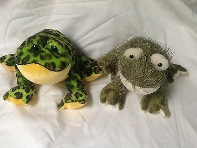 Two Frog Stuffed Animals Collector Frogs Plush Ganz Webkinz Toys