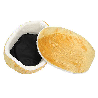 Hamburger Litter Windproof Pet Nest Shell Cat Bed Hiding Burger Bun Pet Bed G6I3