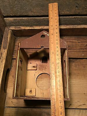Vintage Clock Parts, Cuckoo Clock Parts, Wood Clock Frame  , Salvaged