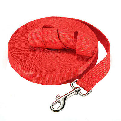 100ft 30.5M Long Pet Dog Horse Training Leads Lunge Webbing Lead Rope Red P6H7