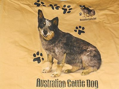 Australian Cattle Dog  Brown Colored Size Large 100% Cotton